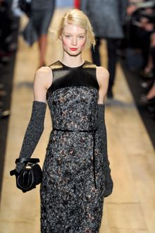 Michael Kors Fall 2012 Thin Black Leather Belt  - Lyst