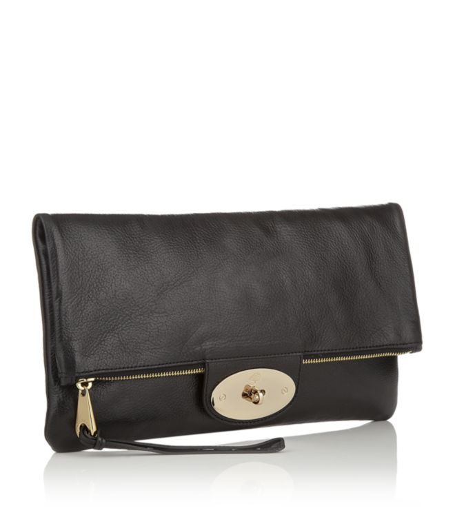 Mulberry Oversized Postmans Lock Clutch Black in Black - Lyst 6545671e78