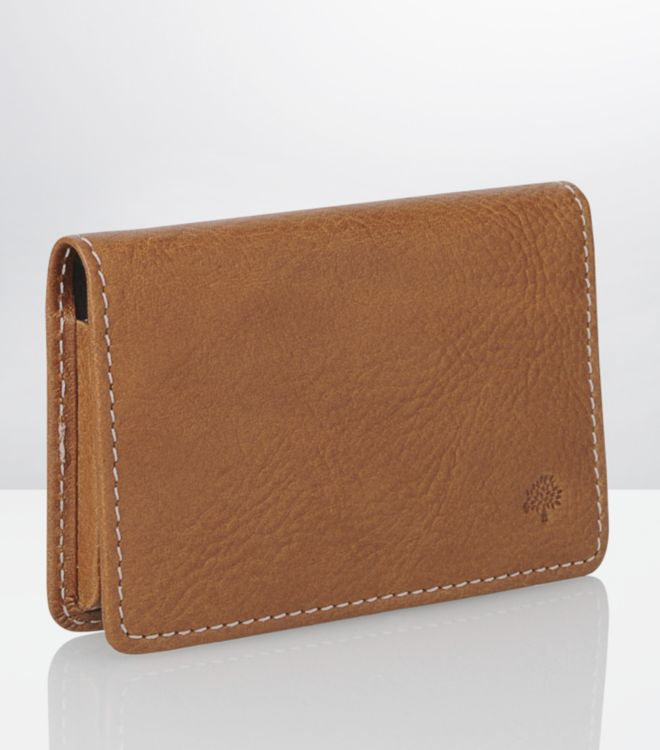 Mulberry oak business card holder in brown for men lyst gallery reheart Gallery