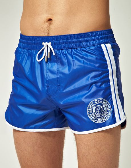 D&g D&g Swim Short in Blue for Men - Lyst