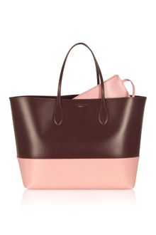 Rochas Two Tone Leather Tote - Lyst