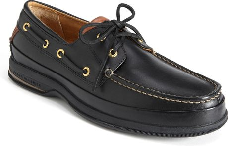 Sperry Top Sider Gold Cup 2 Eye Asv Boat Shoe In Black For