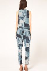 Emma Cook Sleeveless Jumpsuit In Denim Print in Blue (bluedenim) - Lyst