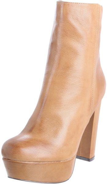 Steve Madden Womens Desirred Boot in Beige (cognac leather) - Lyst