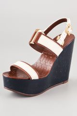 Tory Burch Angeline Wedge Sandals - Lyst