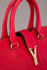 Saint Laurent Cabas Chyc Tote in Red - Lyst