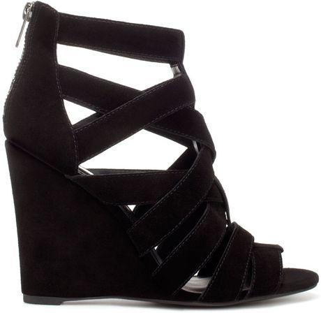 zara wedge jelly shoe in black lyst