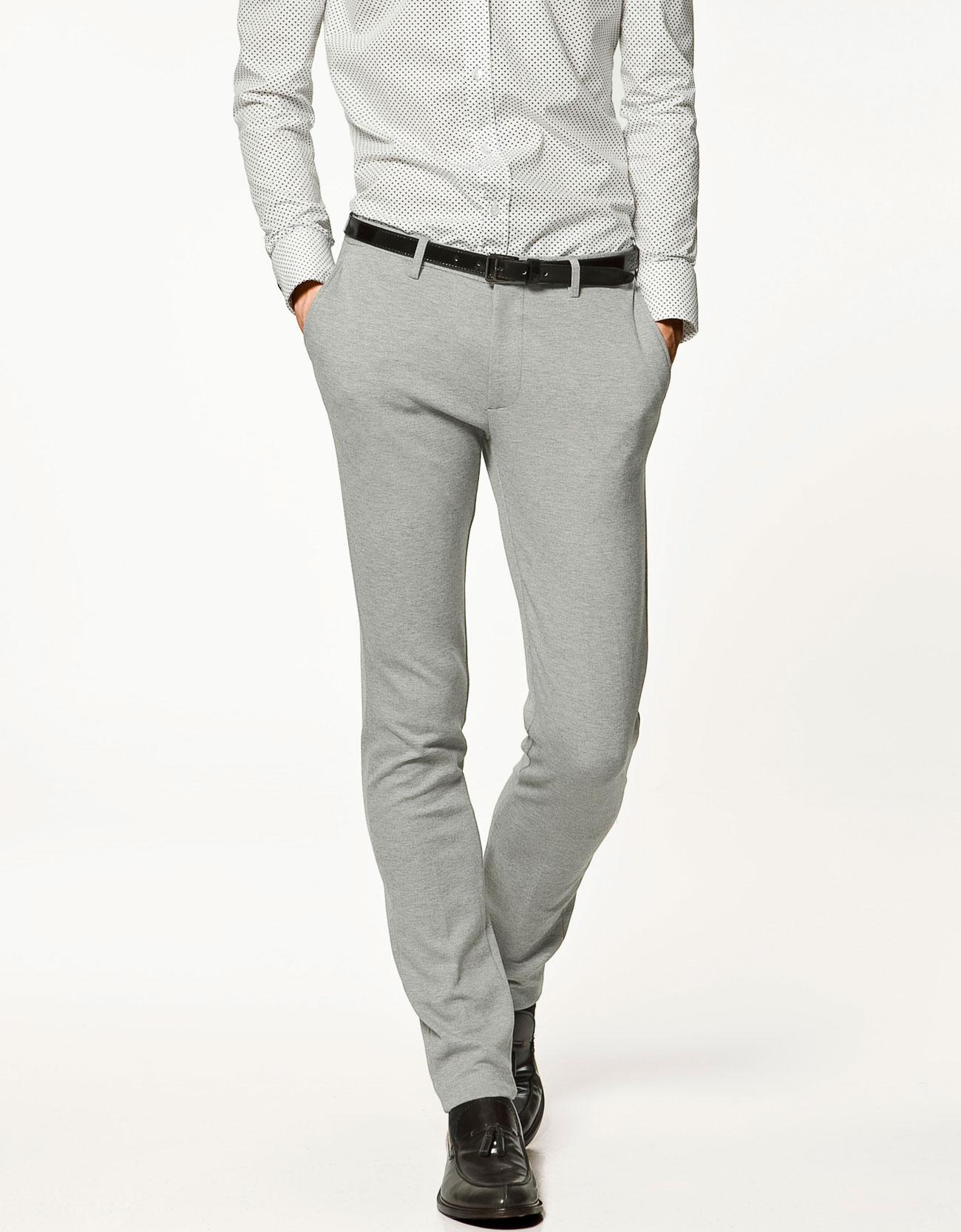 Zara Circular Suit Trousers in Gray for Men | Lyst
