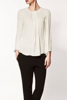 Zara Blouse with Pleated Collar - Lyst