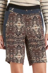 A.l.c. Rudi Board Shorts in Brown (multi) - Lyst