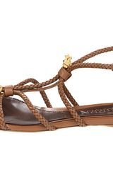 Alexander Mcqueen Flat  Sandals in Brown (h) - Lyst