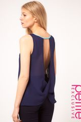 ASOS Collection Asos Petite Exclusive Top with Knot Back Detail - Lyst
