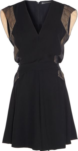 Balenciaga Vneck Dress in Black (nude) - Lyst
