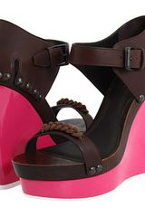 Bottega Veneta Wedge Sandals - Lyst