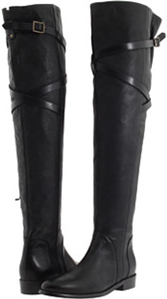 Burberry Grainy Leather Over The Knee Boots - Lyst
