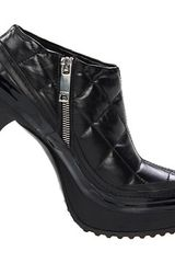 Burberry Quilted Leather Platform Ankle Boot in Black (b) - Lyst
