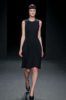 Calvin Klein Fall 2012 Sleeveless Knee-Length Wool Dress in Charcoal Grey - Lyst