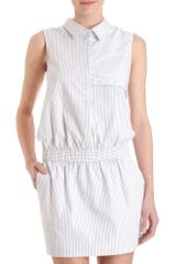 Co-op Barneys New York Striped Shirt Dress - Lyst