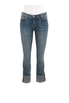 Current/Elliott Stretch Faded Denim Cuffed The Beatnik Skinny Jeans - Lyst