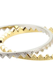 House Of Harlow Engraved Triangle Bangle Set - Lyst
