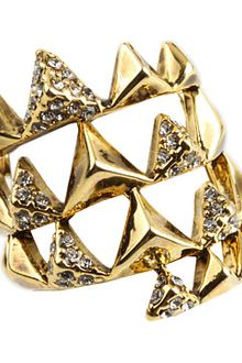 House Of Harlow Pyramid Wrap Ring with Pave - Lyst