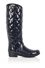 Hunter Navy Regent Savoy Quilted Boot
