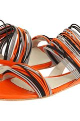 Jil Sander Flat Sandals in Orange (f) - Lyst