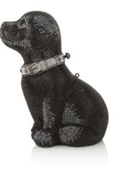 Judith Leiber Puppy Sequin Clutch Bag