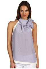 Juicy Couture Silk Neck Tie Top - Lyst