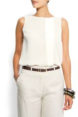 Mango Sheer Top in White (10) - Lyst