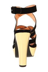 Marc By Marc Jacobs Metallic Platform Sandals in Gold (s) - Lyst