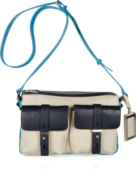 Marc By Marc Jacobs Werdie Colorblock Leather Shoulder Bag in Beige (taupe) - Lyst