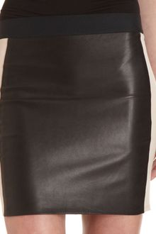 Mason by Michelle Mason Leather Panel Skirt - Lyst