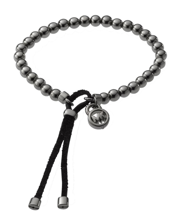 michael kors bead stretch bracelet hematite color in. Black Bedroom Furniture Sets. Home Design Ideas