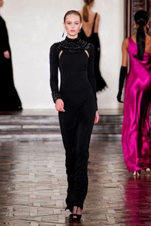 Ralph Lauren Fall 2012 Bead Embellished Evening Dress - Lyst