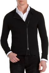 Ralph Lauren Black Label Asymmetric Zip Sweater - Lyst