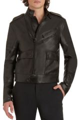 Ralph Lauren Black Label Moto Jacket - Lyst