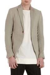 Rick Owens Collarless Sport Coat - Lyst