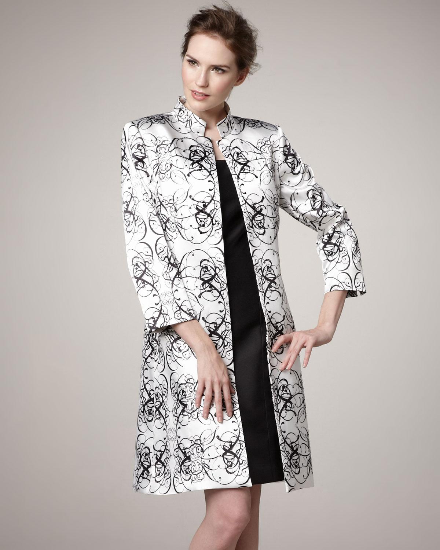 Black White Dress Coat