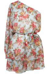 Topshop Asymmetric Floral Dress By Rare** - Lyst