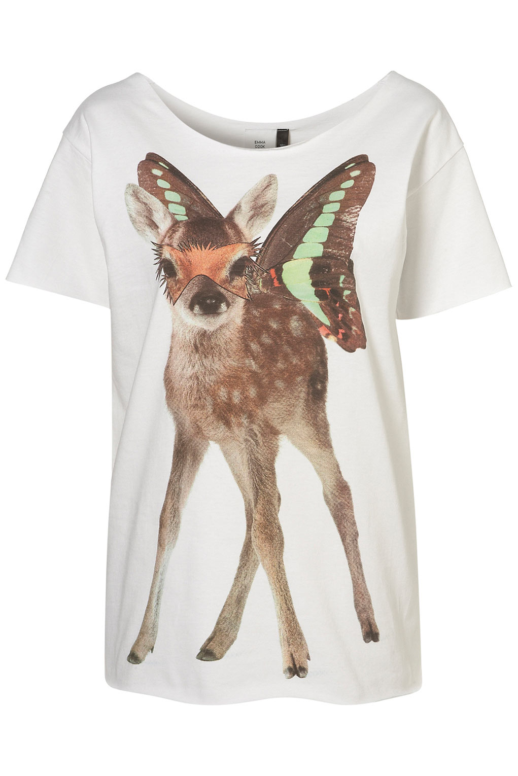 4936893ef7e Lyst - TOPSHOP Deer Print Tee By Emma Cook   in White