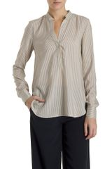 Vince Half Placket Blouse - Lyst