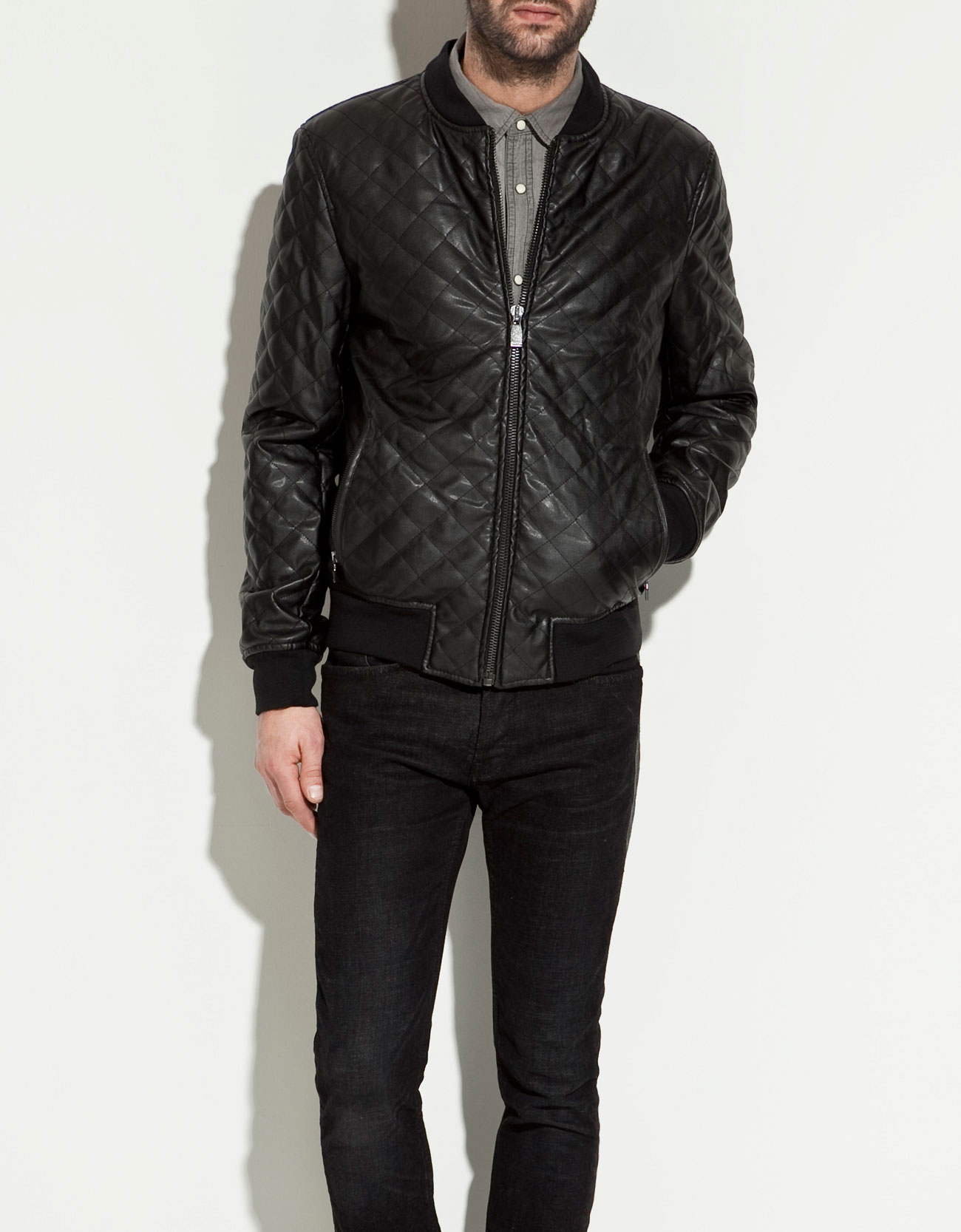 Zara mens leather jackets