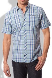 7 Diamonds In The Deep Woven Plaid Shirt - Lyst