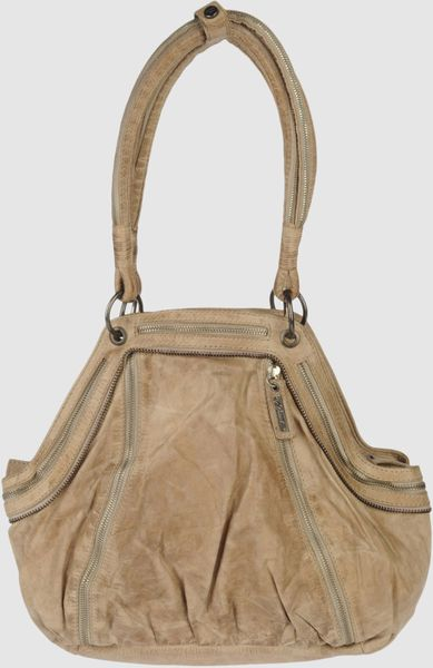 Diesel Large Leather Bags in Brown (sand) - Lyst