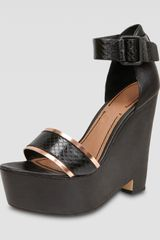 Elizabeth And James Platform Wedge Sandal - Lyst