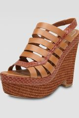 Elizabeth And James Cage Wedge Sandal - Lyst