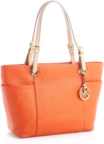Michael by Michael Kors Jet Set Tote, Burnt Orange - Lyst