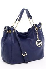 Michael by Michael Kors Jet Set Medium Tote, Navy - Lyst