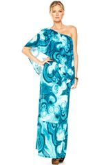 Michael Kors One-shoulder Maxi Dress - Lyst